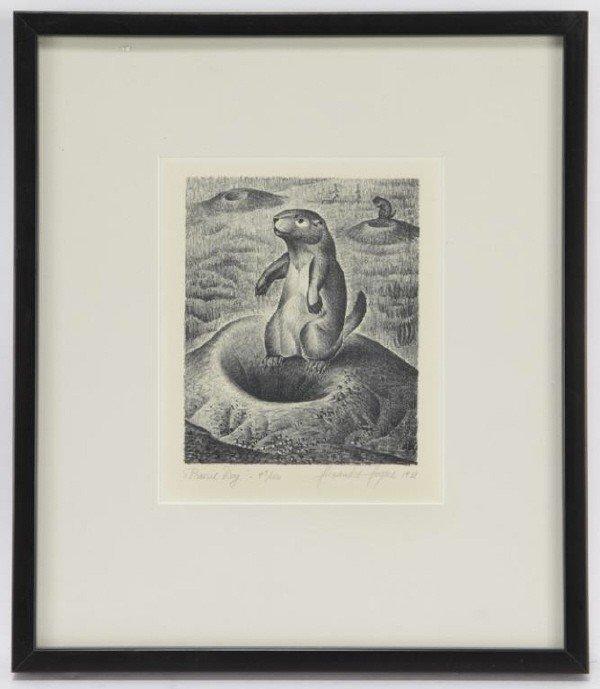 "10: Alexandre Hogue (1898-1994), ""Prairie Dog"" 1938"