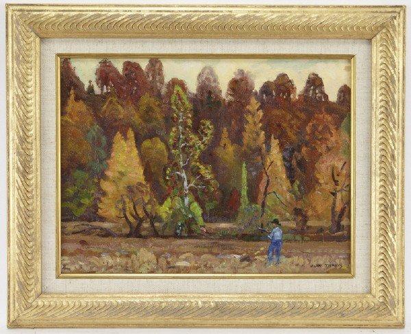"11: Olin Travis (1888-1975), ""Autumn Hunting, Ozarks"""