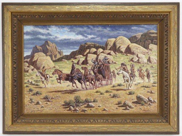 23: Bo Newell (20th century), Untitled - Chase Scene