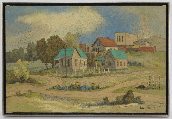 44: Bror Utter (1913-1993), Untitled - Farm Town 1967