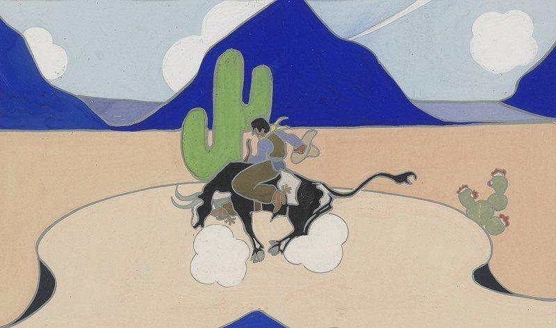 """5: Edward Dawson-Watson (1893-1978), """"Buckin' Steer"""""""