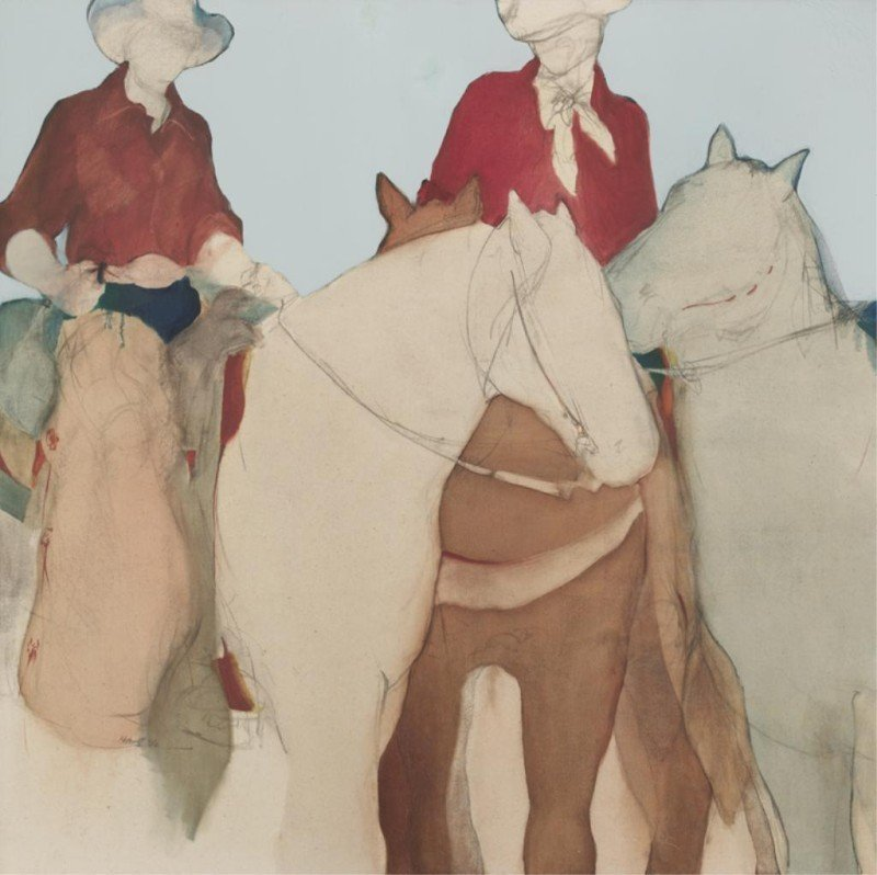 "7: Donna Howell-Sickles (b. 1949), ""Cowgirls"" mixed"