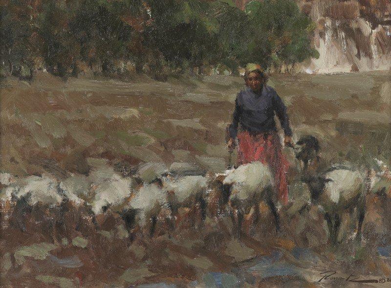 "8: Ramon Kelley (b. 1939), ""Canyon del Muerto"" oil"