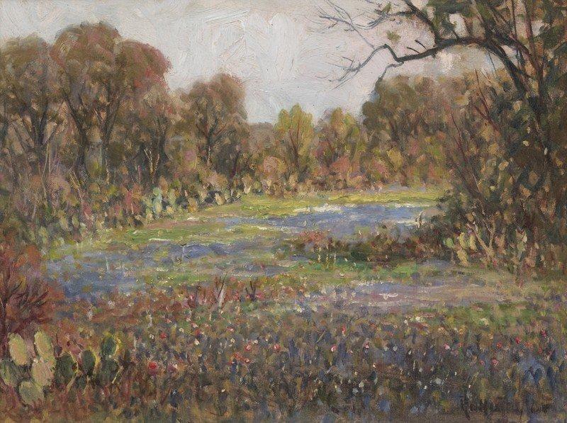 """10: Rolla Taylor (1872-1970), """"Bluebonnet Landscape"""""""