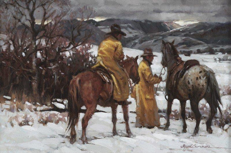 "11: Robert Summers (b. 1940), ""Let's Go Home"" oil"