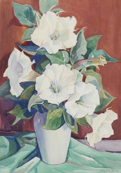"""16: Ella Mewhinney (1891-1962), """"Datura Flower"""""""