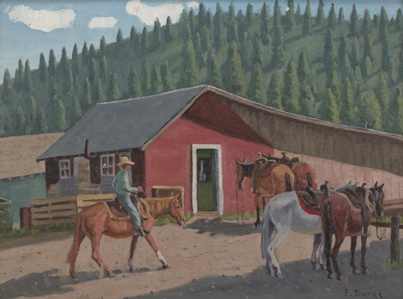 "18: Fred Darge (1900-1978), ""Riding Stable"""