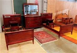 461: Five Pc. Mahogany Bedroom suite