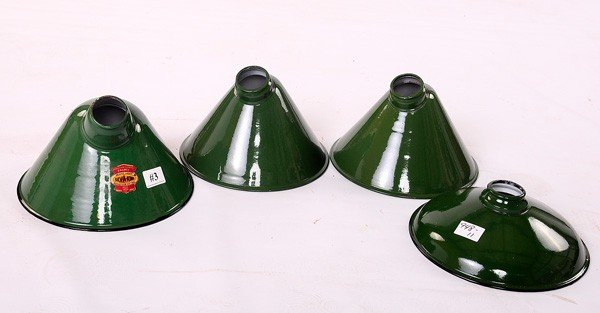 3: New Old Stock Enamel Shades 4 total
