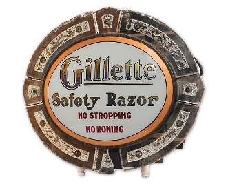 322: Gillette safety Razor Lighted Sign