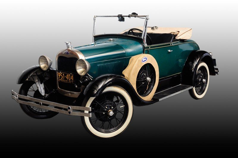 200A: 1929 Model A Ford convertible with rumble Seat &