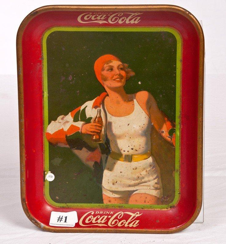 1: 1930 Coca cola Tray