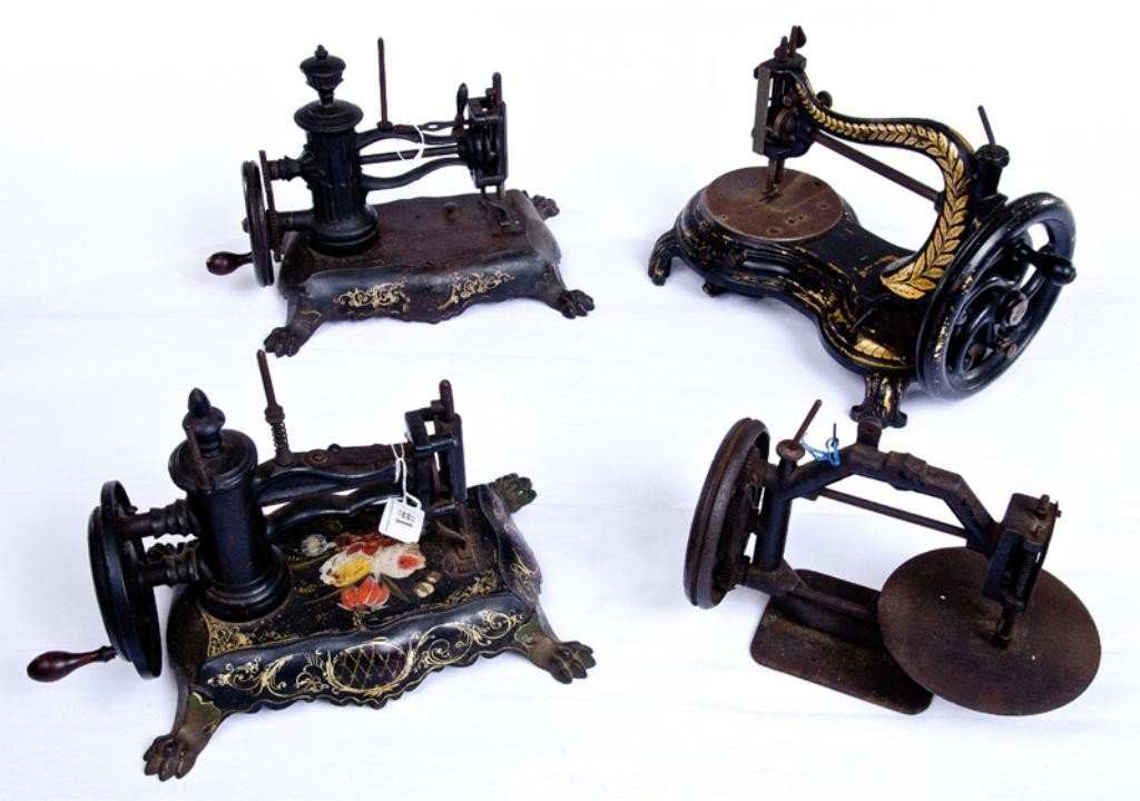 1: Four Antique Victorian Sewing Machines 4