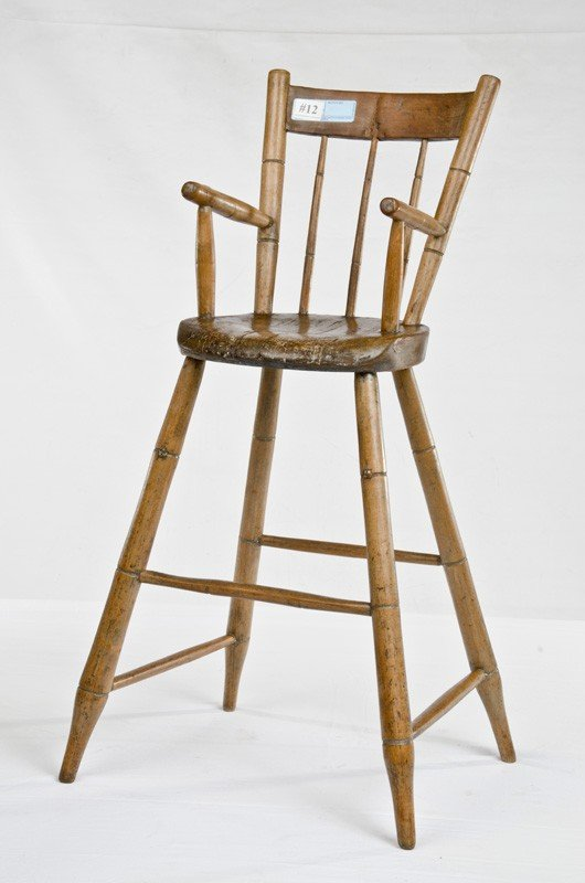 "12: Maple Youth Chair, bamboo turned 34"" tall to"