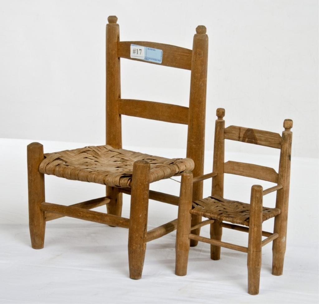 17: Two Child's Chairs with split