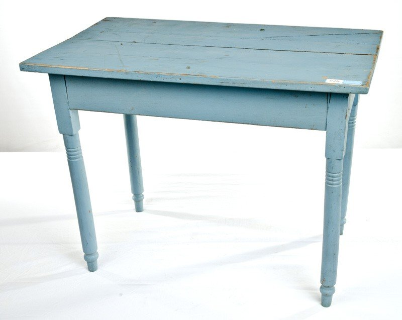"20: Blue Work Table 27"" T x 22"" Dx 36""W"