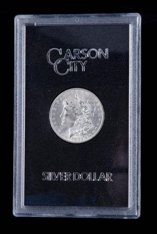 3: Carson City Morgan Silver Dollar 1882  unc