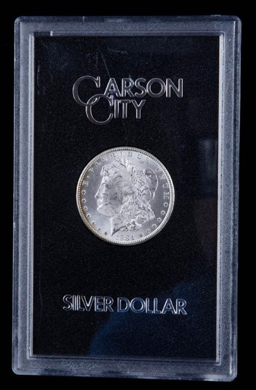 5: Carson City Morgan Silver Dollar 1884 unc in