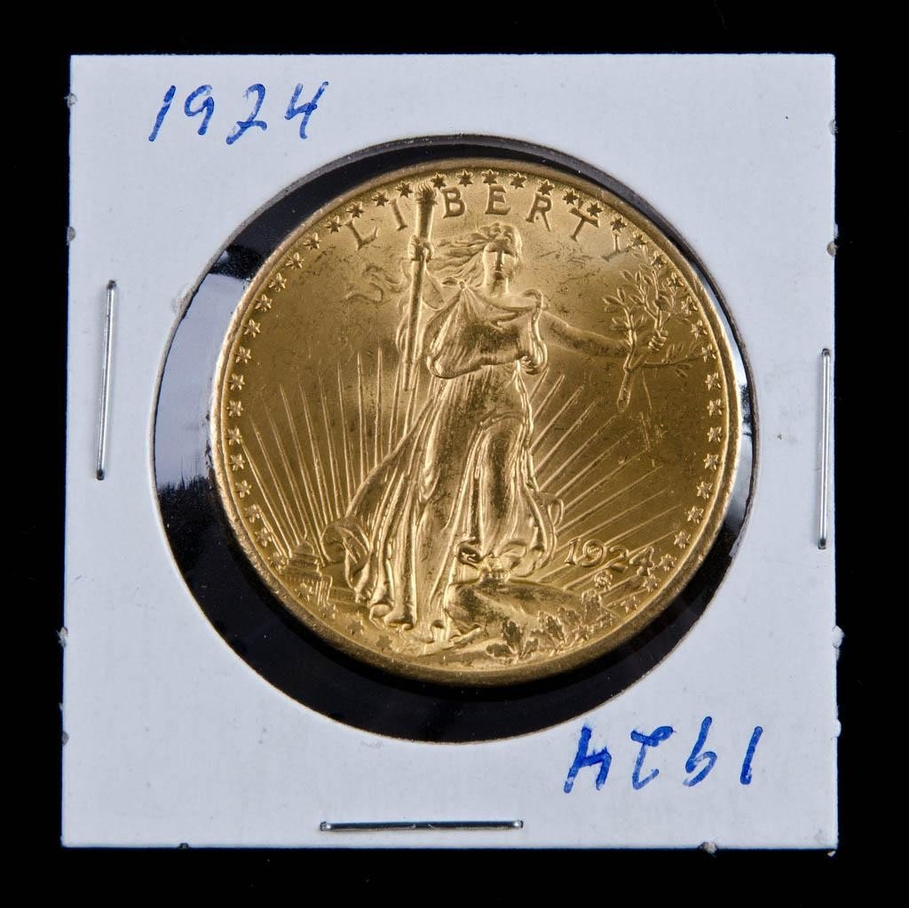 8: 1924 St. Gaudens $20 Gold Piece