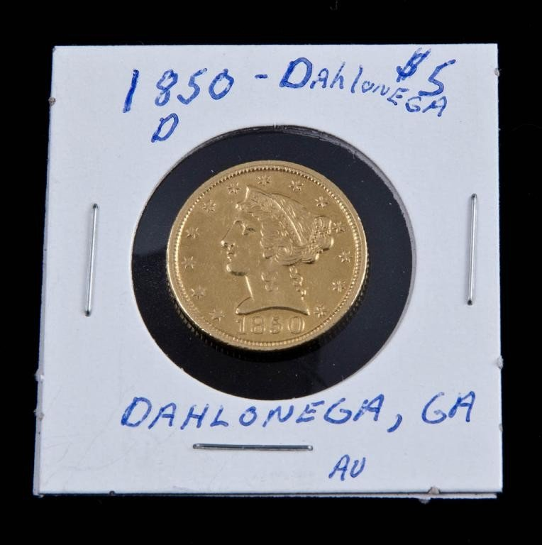 12: Dahlonega $5 Gold Piece 1850