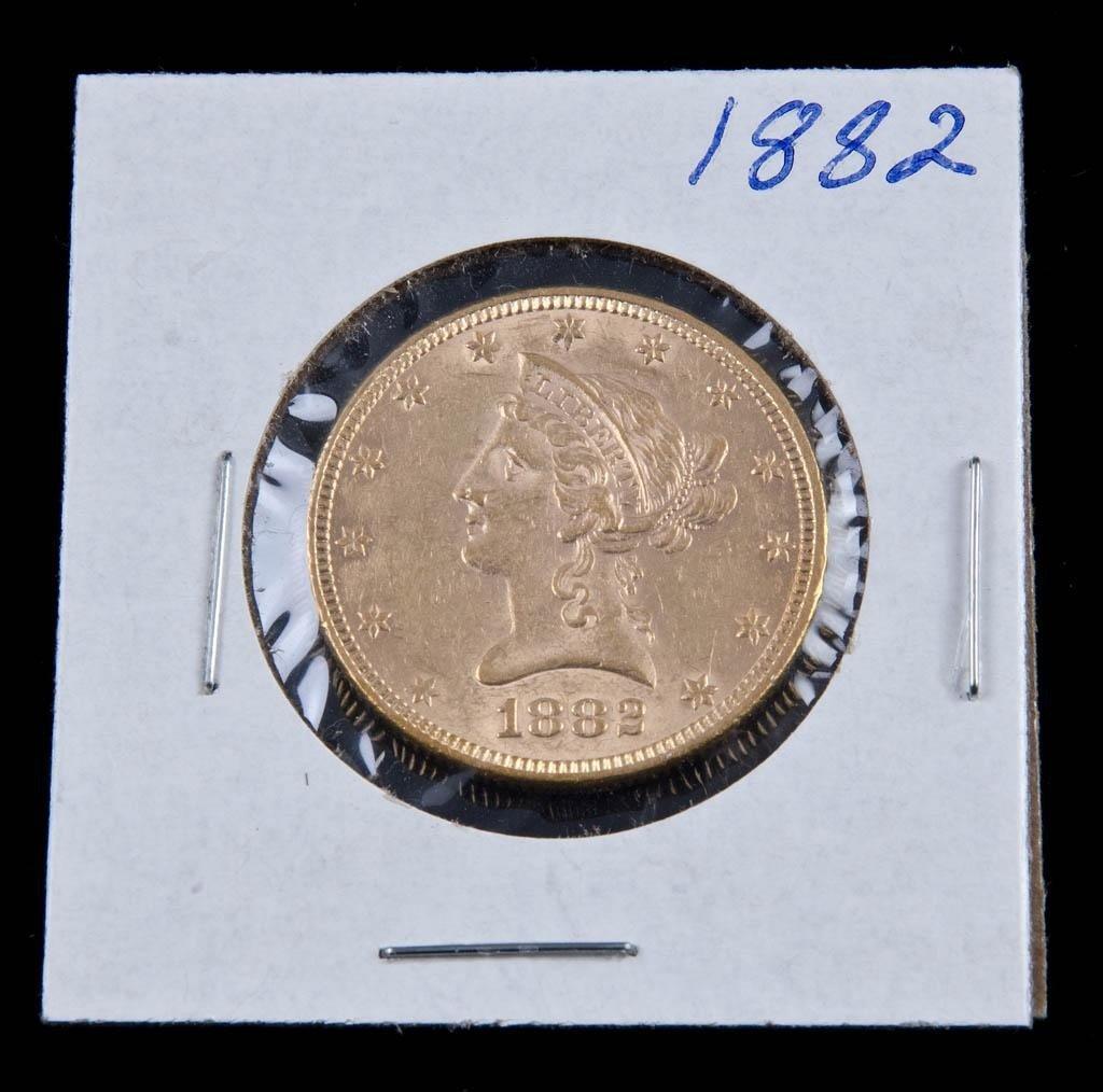 15: 1882 $10 Gold Piece