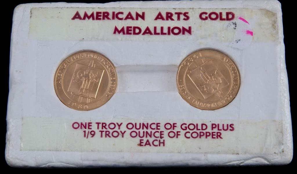 20: Two one ounce .9999 Gold American