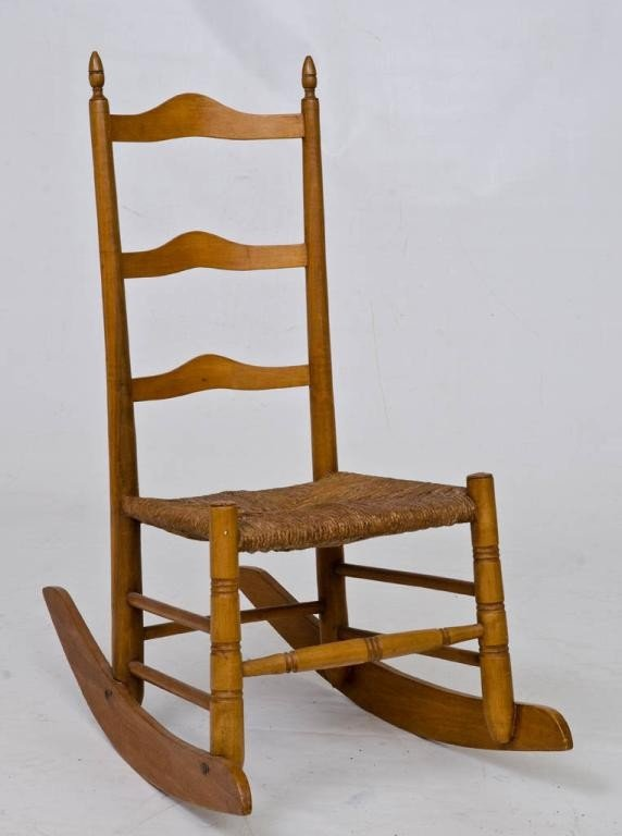 22: Early Maple Child's Rocker