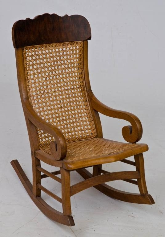 24: Child's Lincoln Rocker with Fully caned Seat