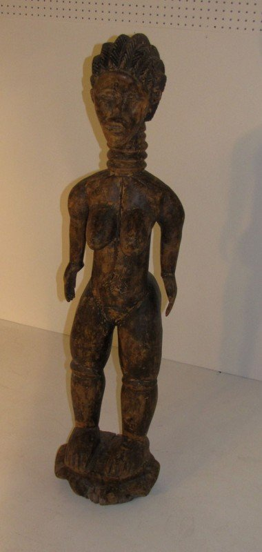 16: Large African Dan carved wood female figure. H: 51""