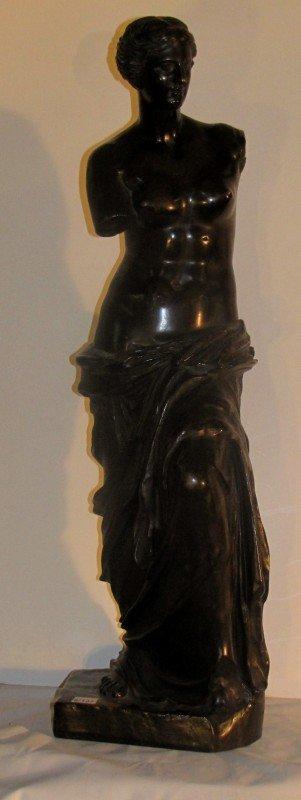 345: Emil Hebert, French 1828-1893, Venus, bronze, sign