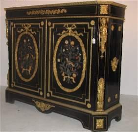 477: Napoleon III pietra dura and bronze-mounted cabine