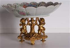 87A: Chinese famille rose porcelain dish