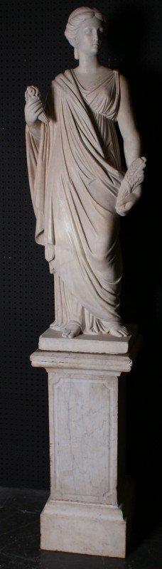 200A: Continental School 19th century marble figure