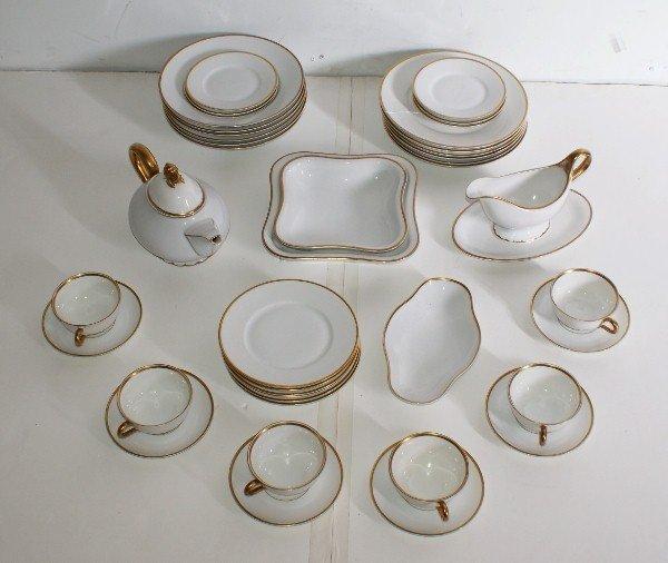 2: Paul Muller 33 piece porcelain partial dinner servic