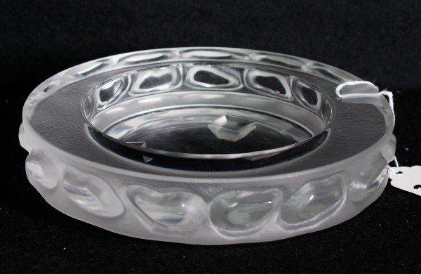 """21:   Lalique style ashtray.  Diameter: 7"""""""