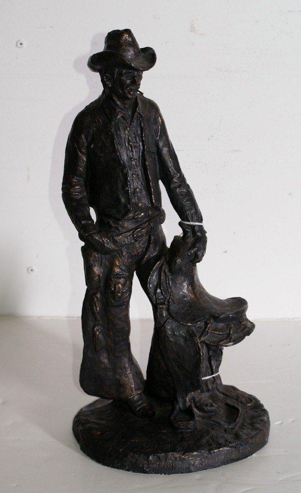 25:   Monfort Original Western Sculpture, composition.