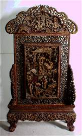 Fine Chinese carved, lacquered and parcel gilt table