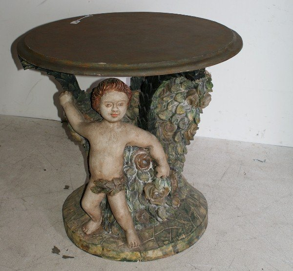 4:  Italian 19th/20th century carved and polychrome