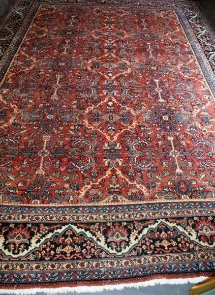 224B: Palace size early   Persian  Mahal carpet.