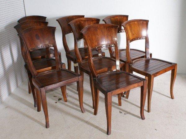 "2: Set of eight Biedermeier style side chairs. H: 36"""