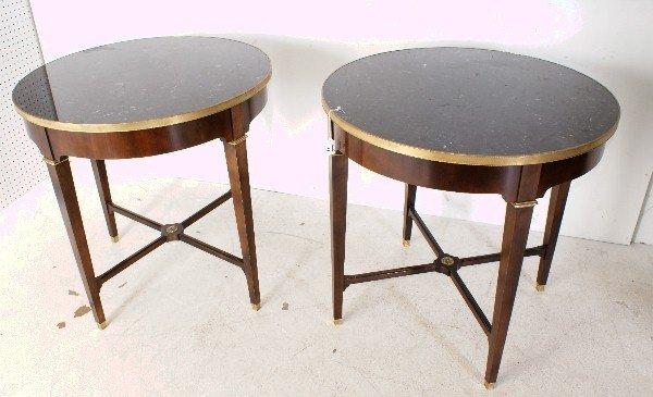 3: Fine pair of Louis XVI style bronze mounted mahogany