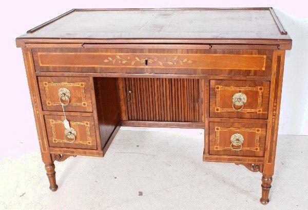 18: English Regency style 19th century mahogany and sat