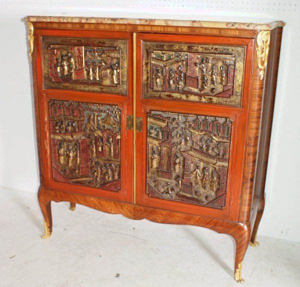 22: Louis XV style 19th century two-door cabinet in the