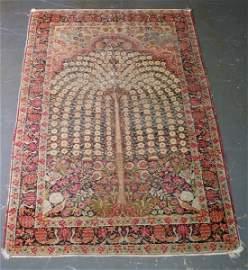 "164: Antique Lavar Kirman prayer rug. 6' 6"" x 4' 4"""