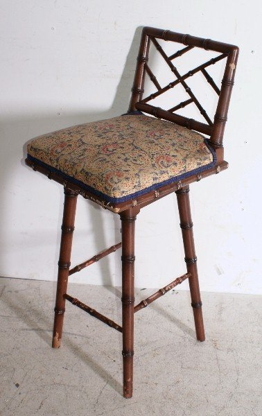181: Six Regency style faux bamboo bar stools. H: 36 1/ - 2