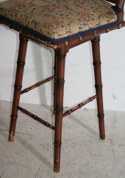 181: Six Regency style faux bamboo bar stools. H: 36 1/ - 3