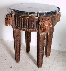 22: Empire style marble-top table, 19th century; the sh