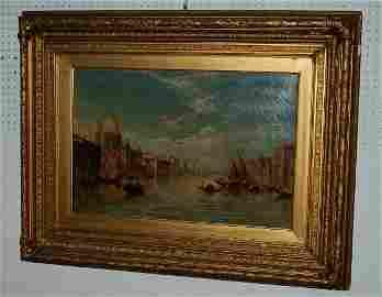 57: J. Wilson, 19th century, Venice Grand Canal, o