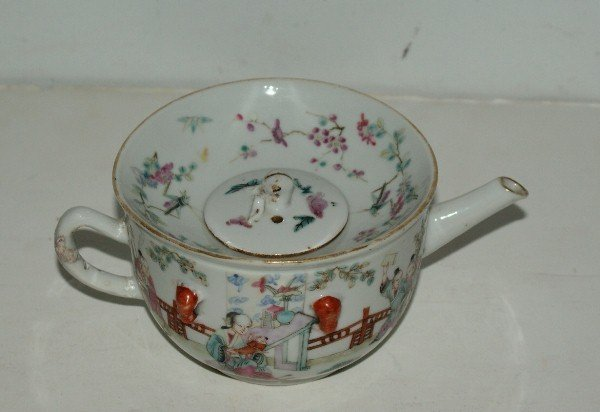 173B: 173B. Antique Chinese famille rose porcelain