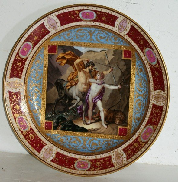 18A: Royal Vienna porcelain charger decorated with a Ce